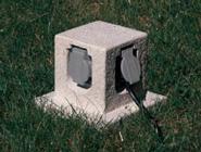 Steckdosenpodest 4-fach granit, inkl. 6 m Kabel