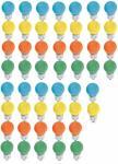 Tropfen 15 Watt E27 farbig gemischt 50er SET