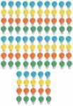 Tropfen 15 Watt E27 farbig gemischt 100er SET