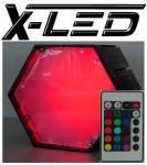 X-LED Lichtcontroller mit Fernbedienung RGB o.,Netz