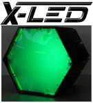 X-LED Lichtmodul 6-kant Gehäuse ohne Netzteil Grün