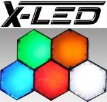X-LED New York 5 Module mit IR Fernbedienung