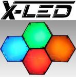 X-LED New York 4 Module mit IR Fernbedienung