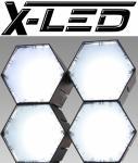 X-LED San Diego 4er Fluter mit Netzteil, weiß