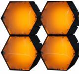 X-LED San Diego 4er Fluter mit Netzteil, gelb