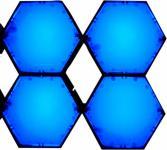 X-LED San Diego 4er Fluter mit Netzteil, blau