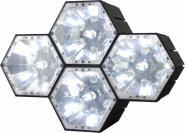 X-LED Silver 4-fach Fluter inkl. Netzteil 1 Ampere