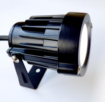 Gartenstrahler schwarz+Erdspieß und Netzstecker LED 5 Watt kaltweiß 500 Lumen schwenkbar