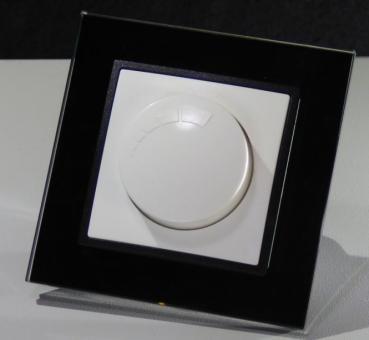 abelka nuovo glasrahmen schwarz 1x led dimmer unterputz led dimmer. Black Bedroom Furniture Sets. Home Design Ideas