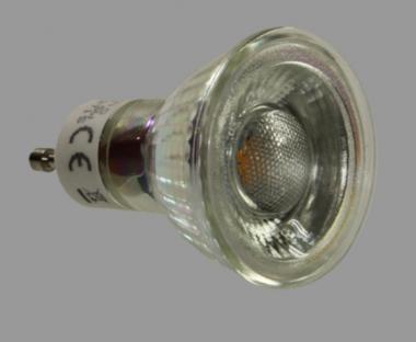 led lampe glas 5 watt 350 lumen gu10 warmwei cob leuchtmittel led lampen. Black Bedroom Furniture Sets. Home Design Ideas