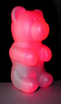 LED Leuchte Nikki Bär 12 Volt rot Höhe: 31 cm