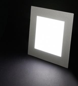led panel eckig einbau 500 lumen ip20 tageslichtwei leuchten und lampen innenleuchten. Black Bedroom Furniture Sets. Home Design Ideas