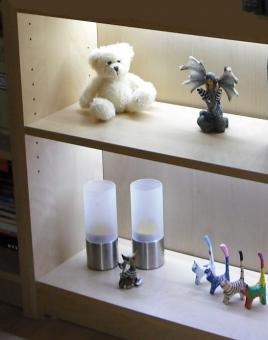 LED Regalbeleuchtung 2x 0,3 m kaltweiß inkl. Netzteil