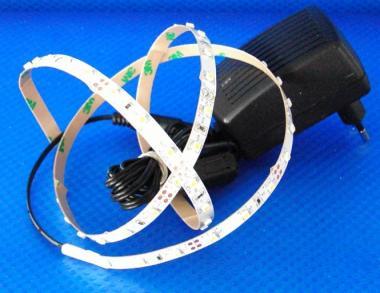 LED SET 1m 60x 3528 SMD LED rot IP20 + Netzteil