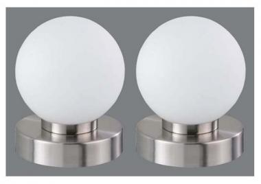 touch me tischleuchte prinz wei 2er pack tischlampen. Black Bedroom Furniture Sets. Home Design Ideas