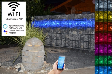 Gabionen Leuchte LED 360° 1,20m RGB und warmweiß (RGB+WW