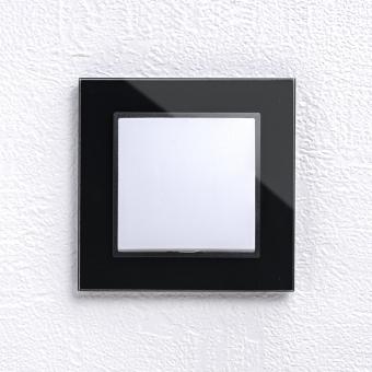 ABELKA Nuovo Glasrahmen schwarz 1x Taster 10A