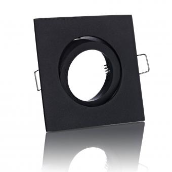 Einbaustrahler Spot eckig schwarz schwenkbar inkl. GU10 Fassung