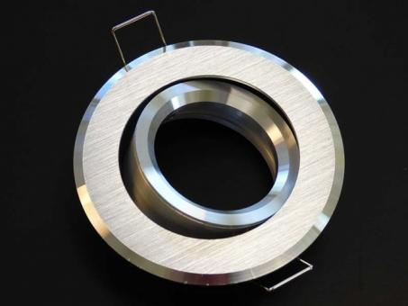 Design Einbaustrahler ALU gebürstet silbern 2-farbig mit GU10 Sockel