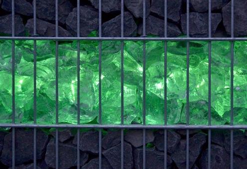 Gabionen LED Leuchte 360° Abstrahlwinkel 0,45 m grün