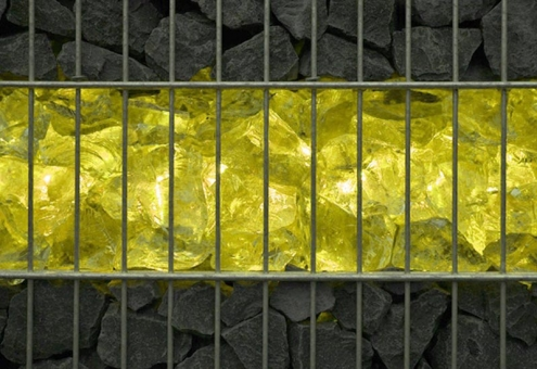 Gabionen Leuchte LED 360° Abstrahlwinkel 0,85 m gelb inkl. Netzteil