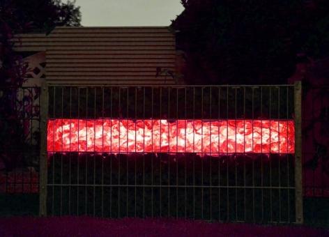 Gabionen LED Leuchte 360° Abstrahlwinkel 1,40 m rot inkl. Netzteil