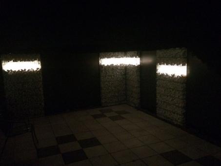 Gabionen Leuchte LED 360° 1,10 m RGB+kaltweiß Fernbedienung