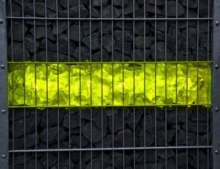 Gabionen Leuchte LED 360 Grad 0,85m RGB+kaltweiß (RGB+W) Fernbedienung