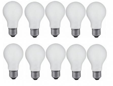 Glühlampe Glühbirne E27 60 Watt matt stossfest 10er Pack