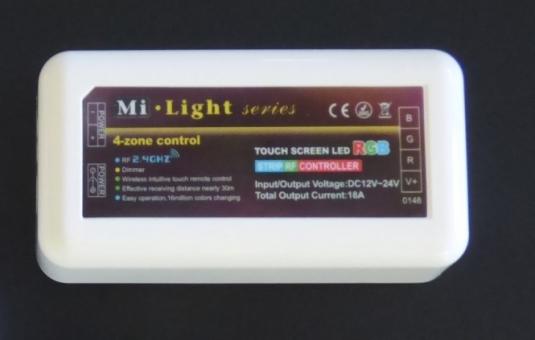 LED 4 Zonen RGB-W Empfänger für LED Stripes 6 Amp. p Kanal