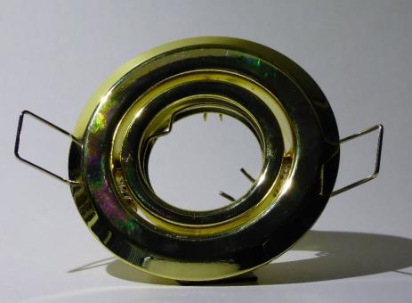 Einbaustrahler Spot schwenkbar MR11 Ø 70 mm messing inkl. GU10 Fassung