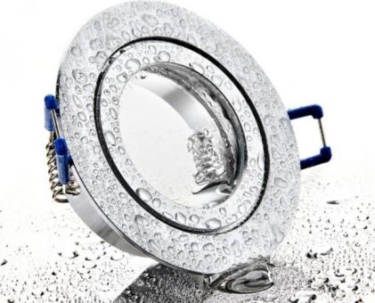 Feuchtraum Einbau Spot BiColor rund IP44 mit Schutzglas inkl. GU10 Sockel