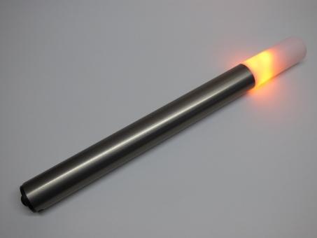 LED Fackel kleine Flamme Länge 430 mm Schaftfarbe eisengebürstet