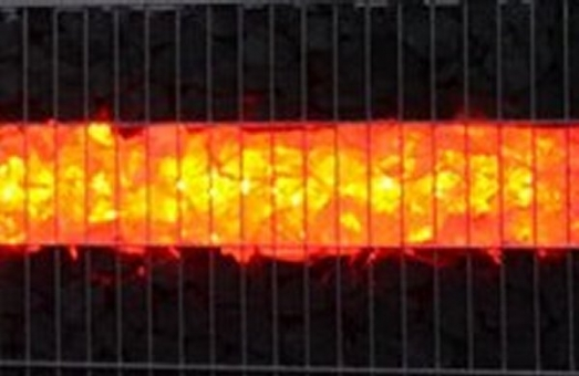 LED Gabionen 360 Grad Abstrahlwinkel Länge 1 m orange