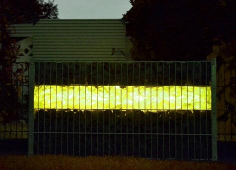 LED Gabionenleuchte 360° Abstrahlwinkel Länge 1,00 m gelb