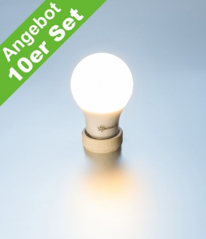 Sonderposten 10er Pack LED Lampe 7 Watt E27 warmweiß