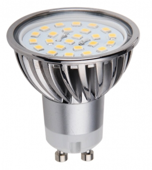 LED Spot DIMMBAR 5 Watt 320 Lumen Sockel GU10 24-LED warmweiß
