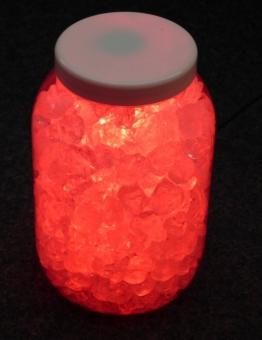 LED Stone Light Deko-Set Rot mit Glassteinen Stripe und Netzteil