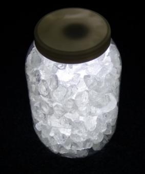LED Stone Light Deko-Set kaltweiß mit Glassteinen Stripe und Netzteil