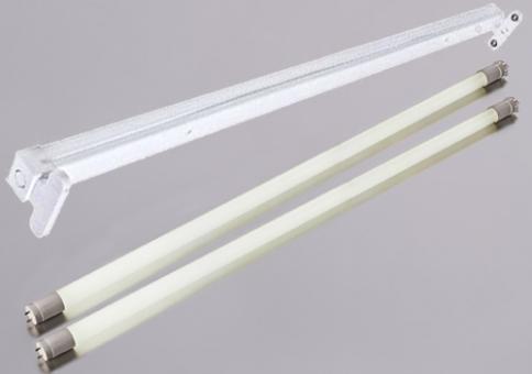 Armatur mit 2 LED T8 Röhren 60 cm warmweiß je 10 Watt