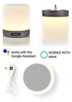 SMART Home Lampe + Lautsprecher + Uhr sprachgesteuert ALEXA/Google oder per APP