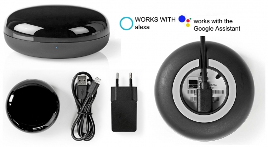 SMART WiFi Alexa Sprachgesteuerte WLAN-Universal-Fernbedienung Infrarot