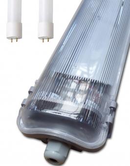 LED Wannenleuchte Doppel-Röhre Feuchtraum 2xT8 Röhren 60cm warmweiß