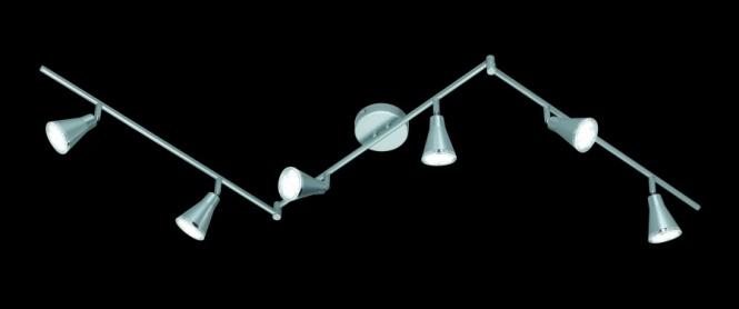 deckenleuchte led arras 5 watt 6 flammig 240 lumen dreh kippg led deckenlampe. Black Bedroom Furniture Sets. Home Design Ideas