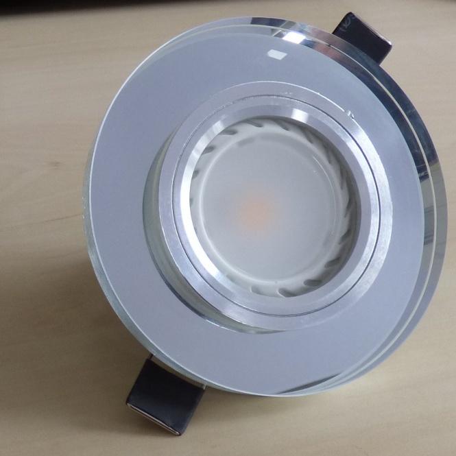 einbaurahmen spiegel rund glas f r leds einzeln leuchten. Black Bedroom Furniture Sets. Home Design Ideas