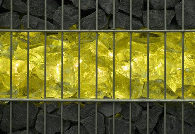 gabionen leuchte led 360 abstrahlwinkel 0 45 m gelb inkl netzteil ebay. Black Bedroom Furniture Sets. Home Design Ideas