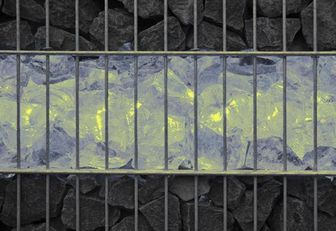 LED Gabionenleuchte 360° Abstrahlwinkel Länge 50 cm warmweiß