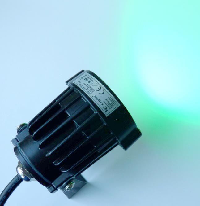 gartenstrahler led 5 watt 260 lumen schwenkbar mit erdspie gr n ebay. Black Bedroom Furniture Sets. Home Design Ideas