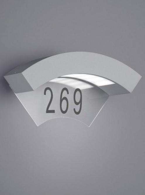 led hausnummern leuchte moskwa ip55 5 watt 240 lumen titan. Black Bedroom Furniture Sets. Home Design Ideas