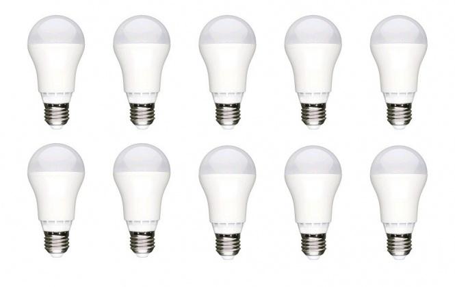 led lampe 1350 lumen 13 watt e27 kaltwei 10er pack 10er pack led lampe leuchtmittel led lampen. Black Bedroom Furniture Sets. Home Design Ideas